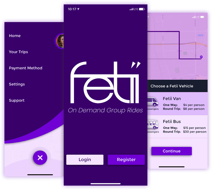 Fetii App Screenshots